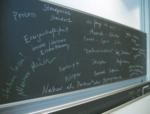 Brainstorming-Protokolltafel SF Musik/BG, Kanti Trogen